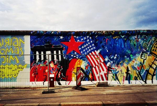Tường thành Berlin ngày nay.