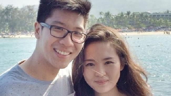 Đôi mới cưới Arief Soemarko (trái) và Wayan Mirna Salihin (bên phải). Mirna chết vì nghi ngờ bị đầu độc bằng xyanua. Ảnh: Facebook.