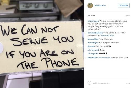 Lưu ý của quán Mister Close đối với khách hàng của họ. Ảnh: Instagram