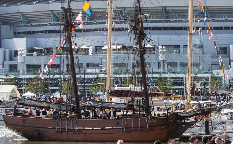 Tàu của những người đến định cư tại Melbourne đầu tiên từ năm 1835