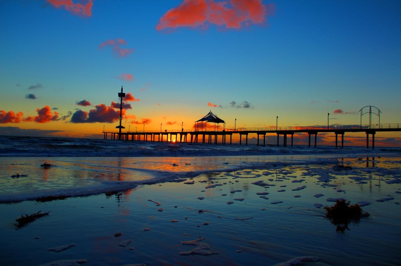 Hoàng hôn tại bãi biển Brighton ở Adelaide - Những lý do chứng minh Adelaide là thành phố đáng sống nhất nước Úc