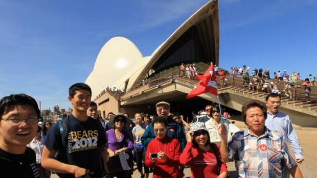 khách du lịch Trung Quốc tới Úc nhiều nhất