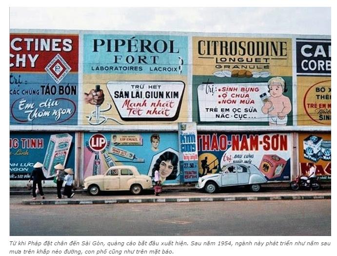 n tượng với những kiểu quảng cáo của người Sài Gòn xưa 3 - Ấn tượng với những kiểu quảng cáo của người Sài Gòn xưa