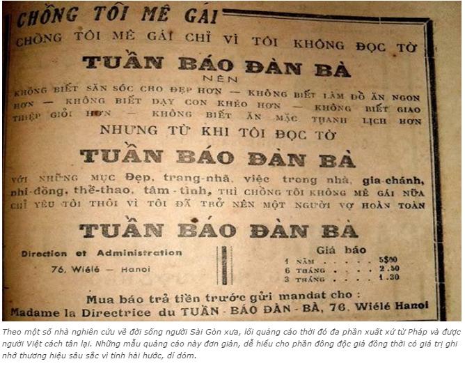 n tượng với những kiểu quảng cáo của người Sài Gòn xưa 8 - Ấn tượng với những kiểu quảng cáo của người Sài Gòn xưa