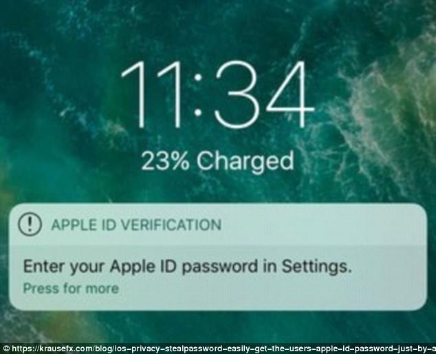 453A10EE00000578 4969826 image a 17 1507724190629 - CẢNH BÁO hình thức lừa đảo CAO CẤP tới những người dùng điện thoại iPhone