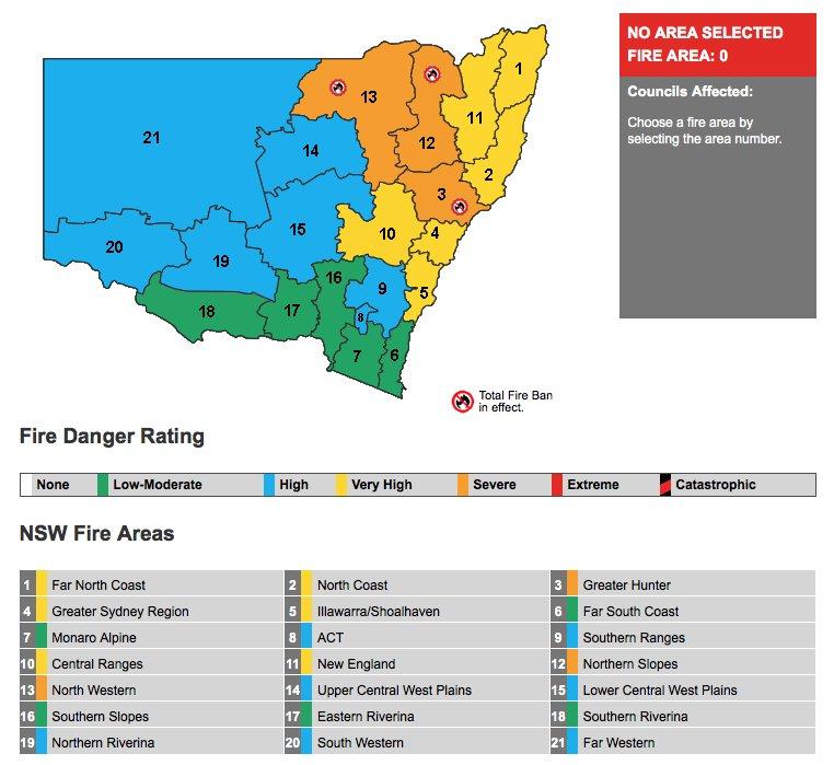 Các điều kiện kỳ lạ trùng với Dịch vụ Cứu hoả Nông thôn NSW tuyên bố lệnh cấm toàn bộ đối với các bộ phận của bang. - Thời tiết 4 mùa diễn ra ở Sydney, từ nóng sang lạnh chỉ trong 1 ngày