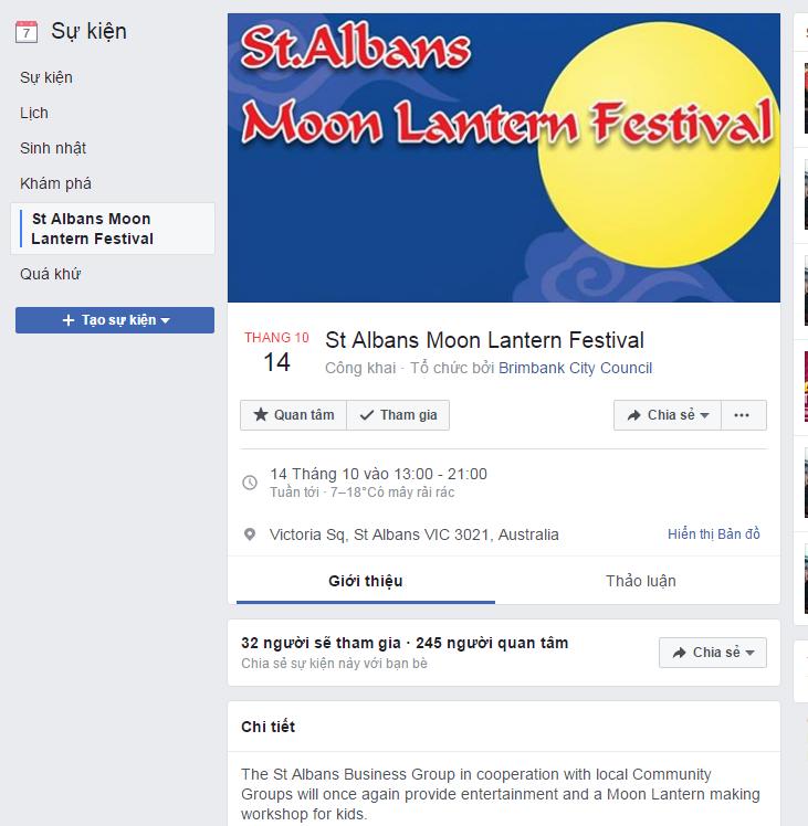 Lễ hội trung thu tại St Albans - Kế tiếp Footscray là Sunshine và St Albans đua nhau tổ chức lễ trung thu, ở đâu sẽ vui nhất?