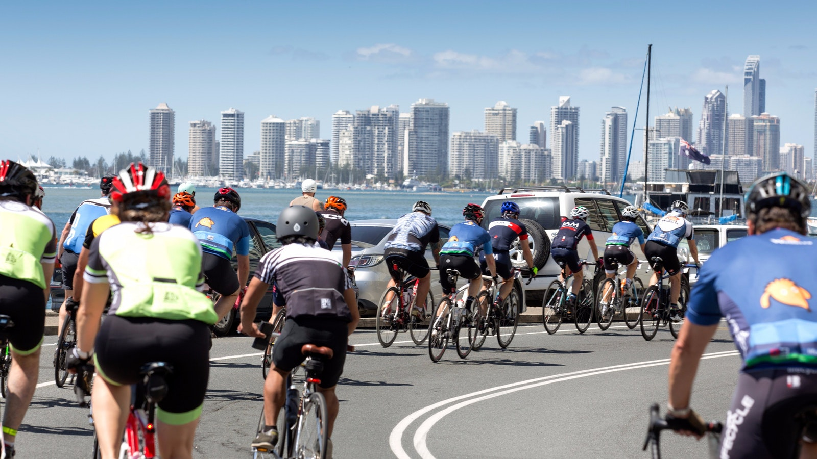 cycle around the gold coast