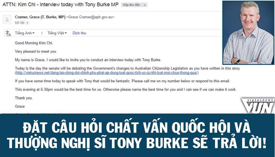 logo - Cùng phỏng vấn thượng nghị sĩ Tony Burke: Lên tiếng để xây dựng nước Úc theo cách của bạn!