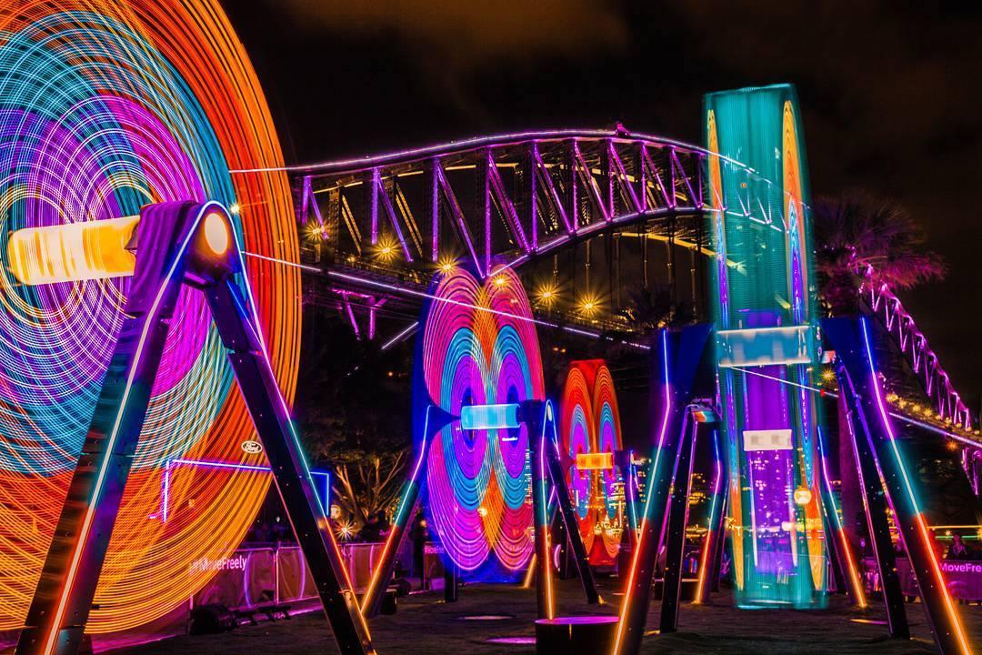 Kết quả hình ảnh cho lễ hội ánh sáng vivid sydney
