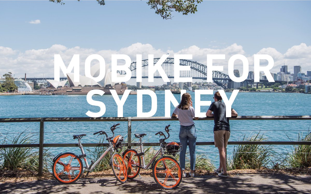 Mobike bike share in sydney