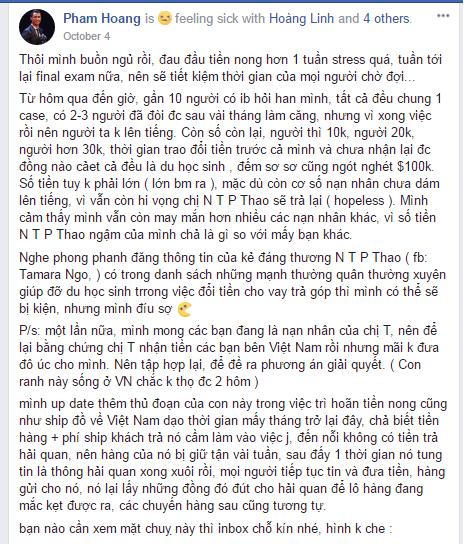 Capture 1 1 - Chị X - một chủ doanh nghiệp người Việt tại Melbourne bị tố lừa đảo 200 ngàn đô
