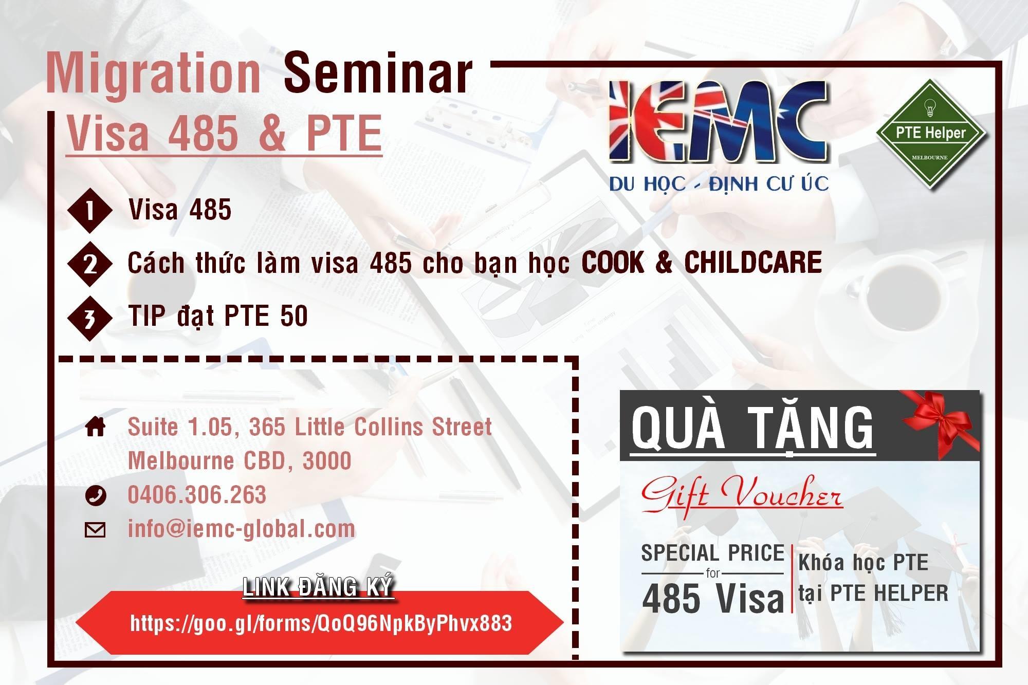 Hội thảo định cư Úc visa 185 miễn phí và chia sẻ những bí quyết làm bài thi PTE điểm cao nhất 2 - Hội thảo di trú Úc – Visa 485 và bí quyết chinh phục PTE