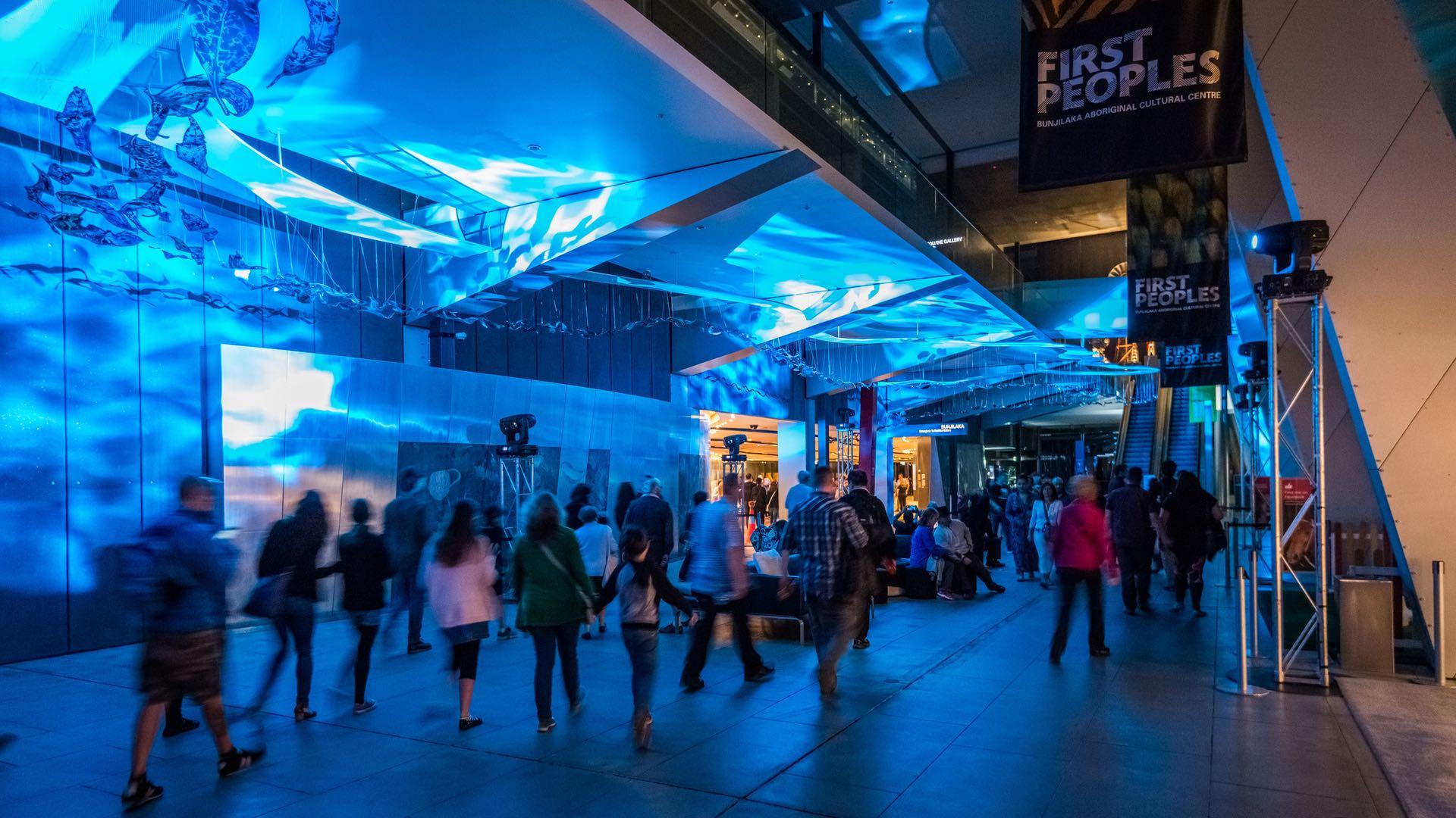 Melbourne-Museum-night