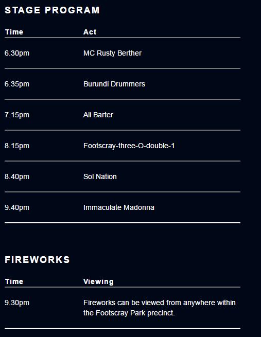 Thời gian chi tiết diễn ra các chương trình - Những địa điểm tổ chức sự kiện ngắm pháo hoa chào đón năm mới 2018 ĐẸP NHẤT ở Melbourne