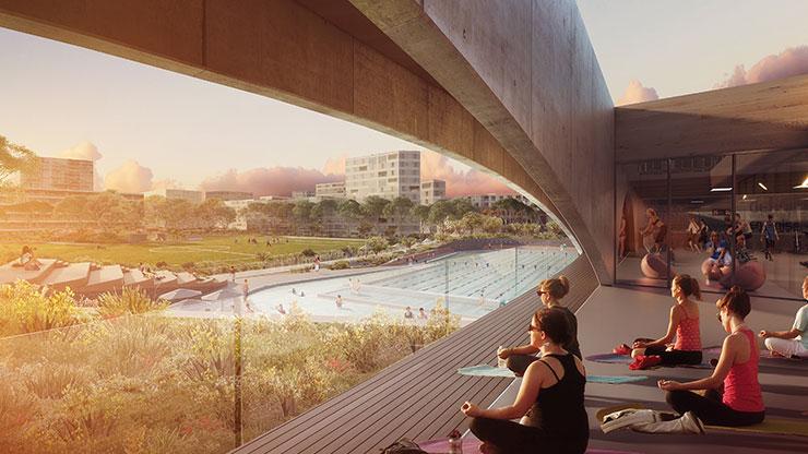 Gunyama Park Aquatic and Recreation Centre will offer a program of fitness classes - Sydney: một hồ bơi với kiến trúc tuyệt đẹp sắp xuất hiện ở Green Square