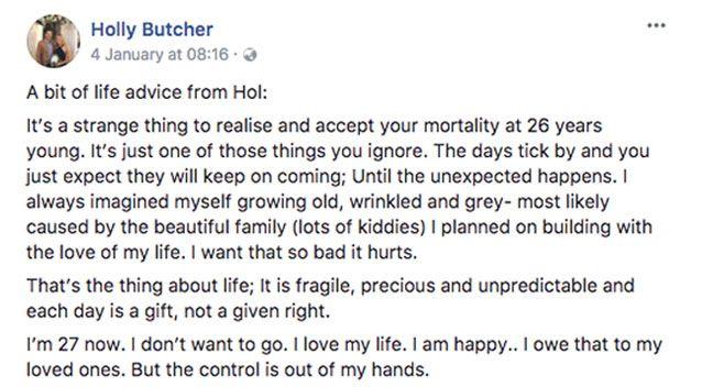 Tâm thư đau buồn của cô gái NSW bị ung thư gửi thế giới trước khi qua đời 3 - Tâm thư đau buồn của cô gái NSW bị ung thư gửi thế giới trước khi qua đời