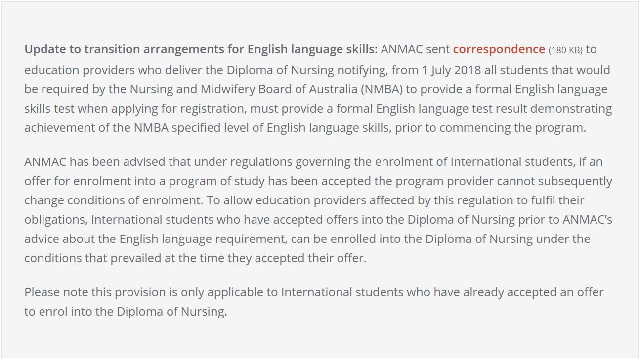 Yêu cầu đầu vào của ngành Nursing Y tá Úc IELTS 7.0 từ 2018 2 - Yêu cầu đầu vào của ngành Nursing (Y tá) Úc - IELTS 7.0 từ 2018