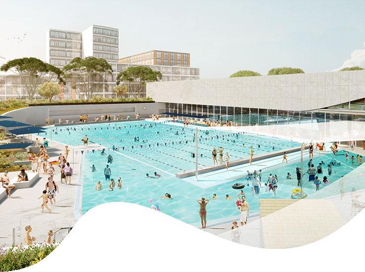 pool curves - Sydney: một hồ bơi với kiến trúc tuyệt đẹp sắp xuất hiện ở Green Square