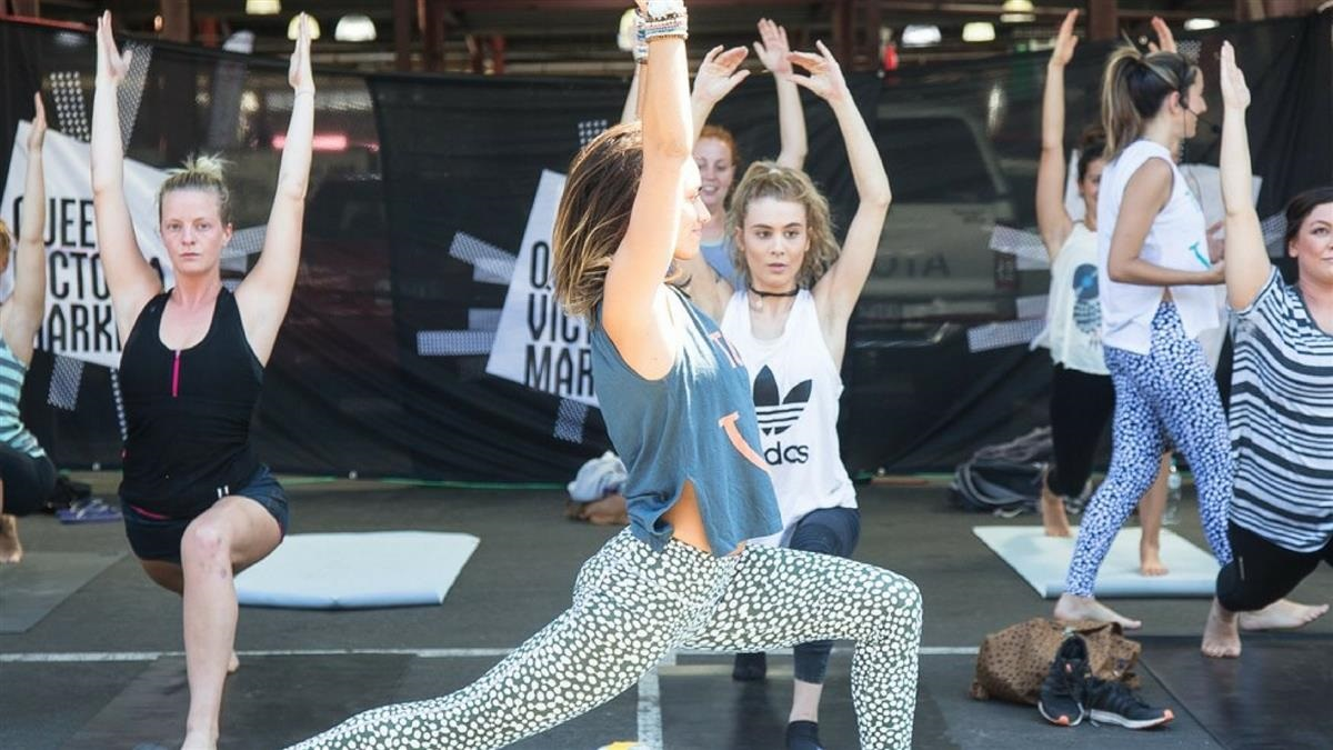 Free yoga classes at the Queen Vic Market