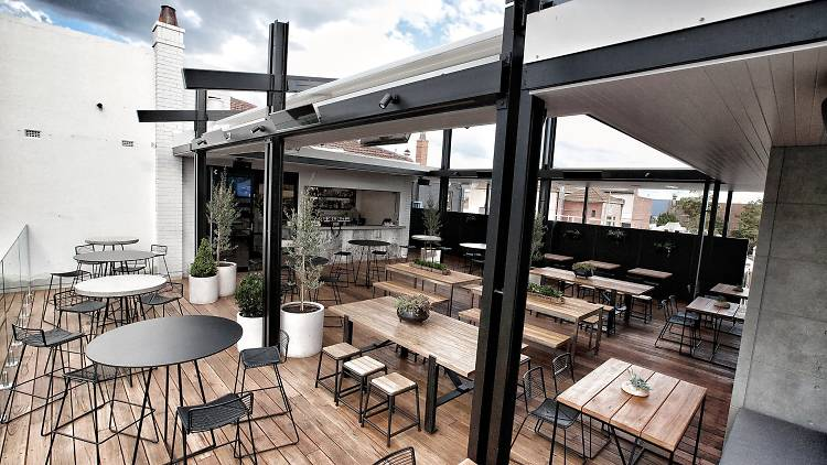 The Railway Hotel melbourne rooftop bar