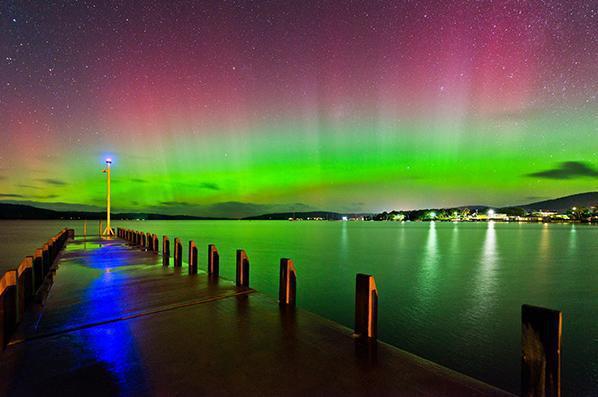 Aurora Australis in Hobart,