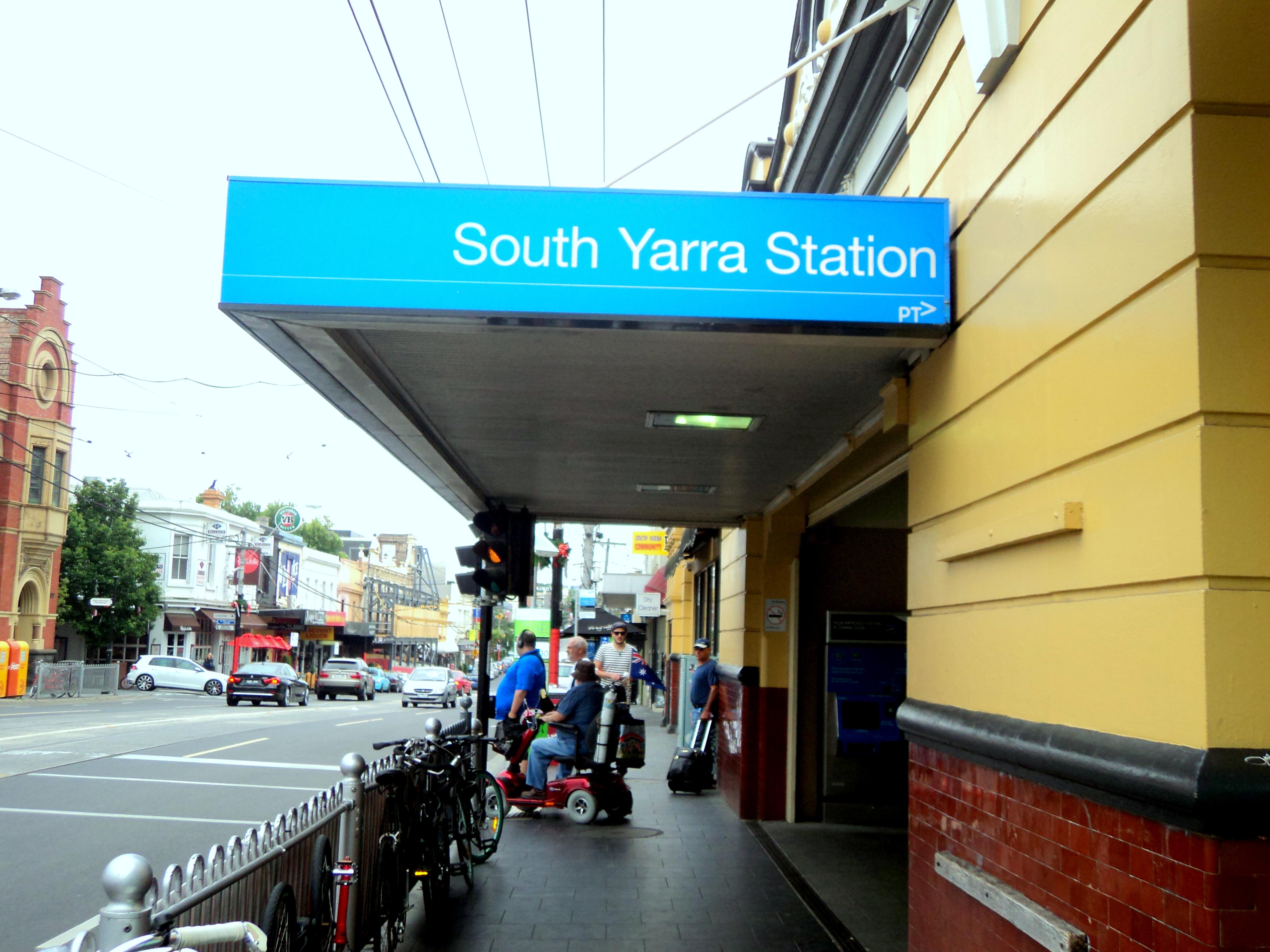 South Yarra train station