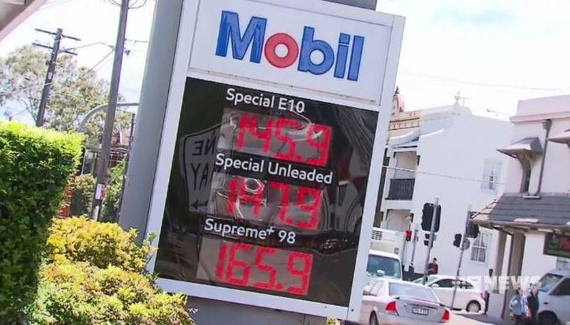 Sydney petrol prices