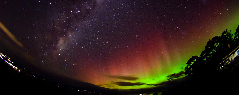 aurora australis in tasmania