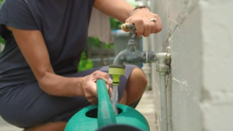 shower buckets to be brought back for garden watering