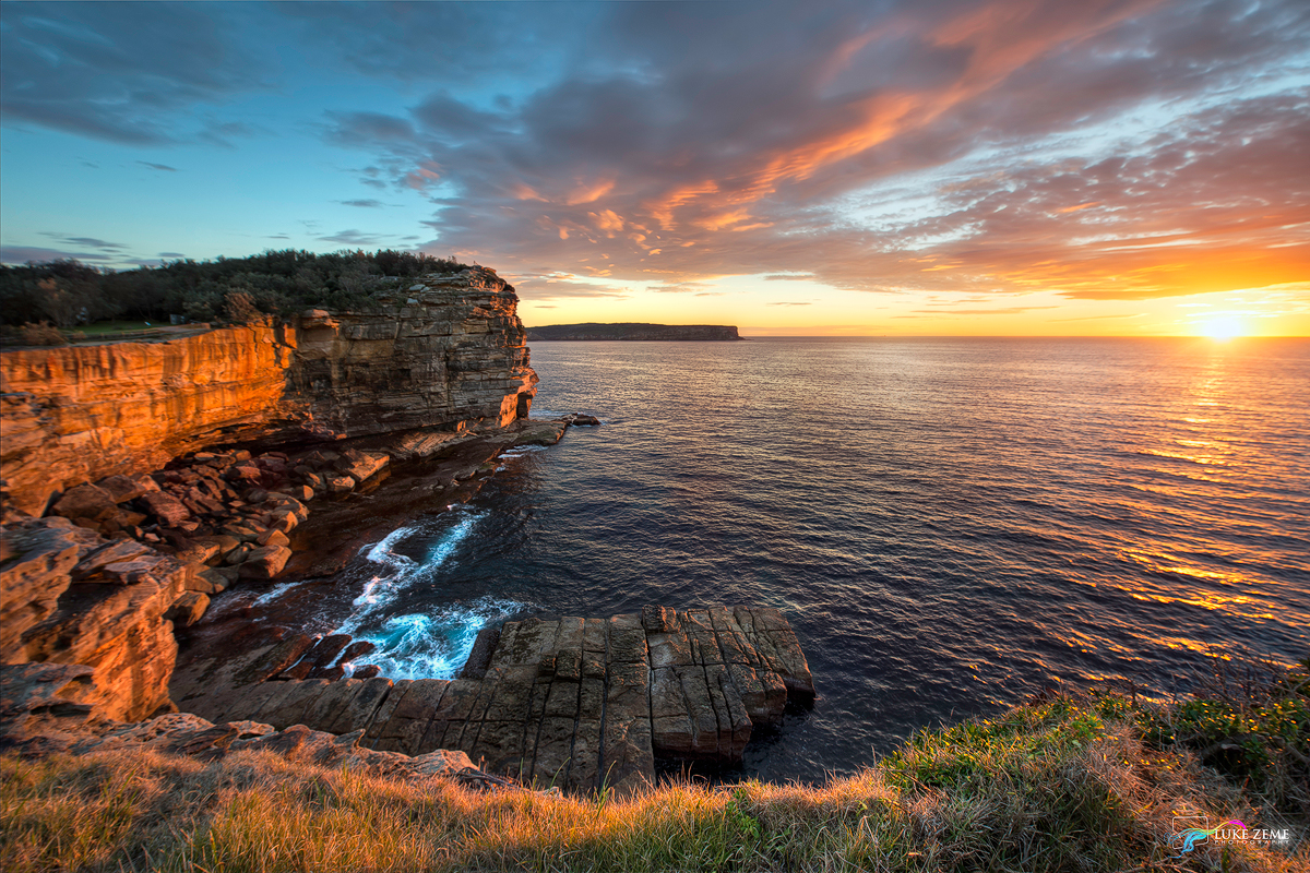 sunrise from The Gap sydney