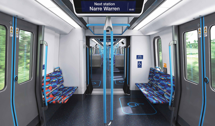 Melbourne's new high capacity trains 1 - Những hình ảnh đầu tiên của tàu điện mới ở Melbourne được công bố