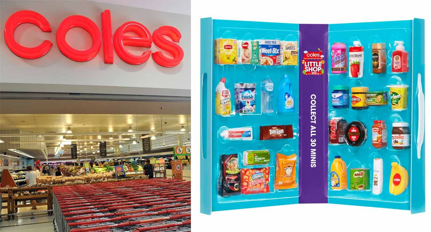 Coles defends 'Little Shop' plastic