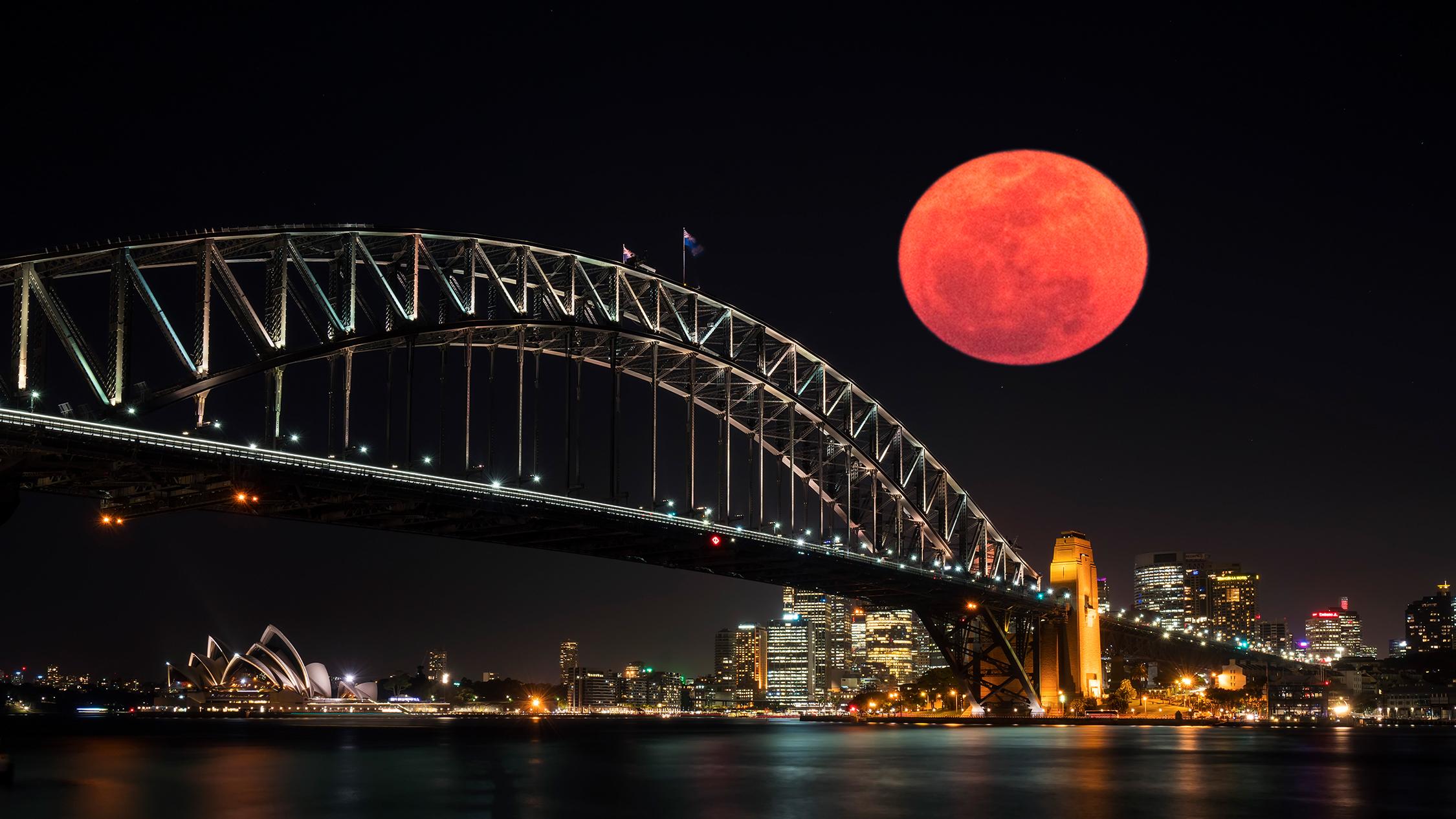 lunar eclipse sydney - Hướng dẫn xem nguyệt thực dài nhất thế kỷ ở Sydney