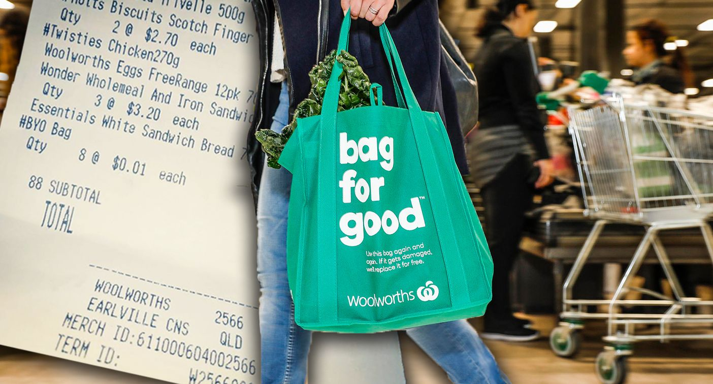 charged for bringing own bags Woolworths
