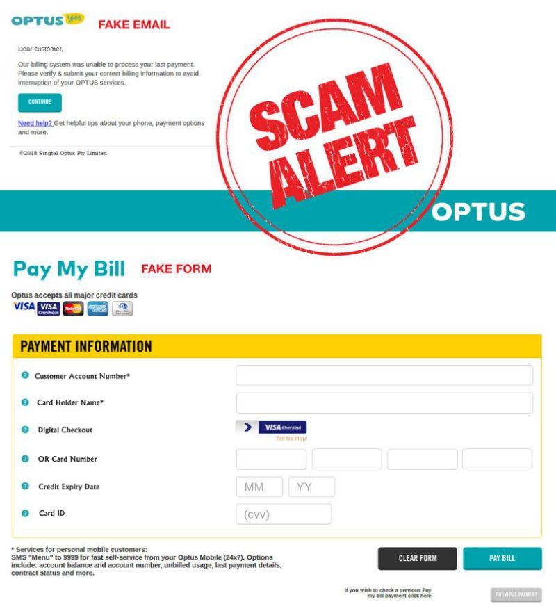 scam Optus customers