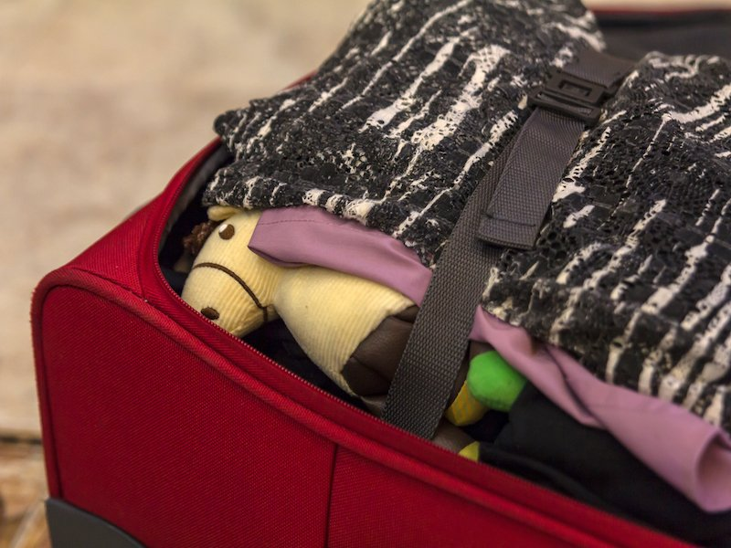 not packing your suitcase carefully