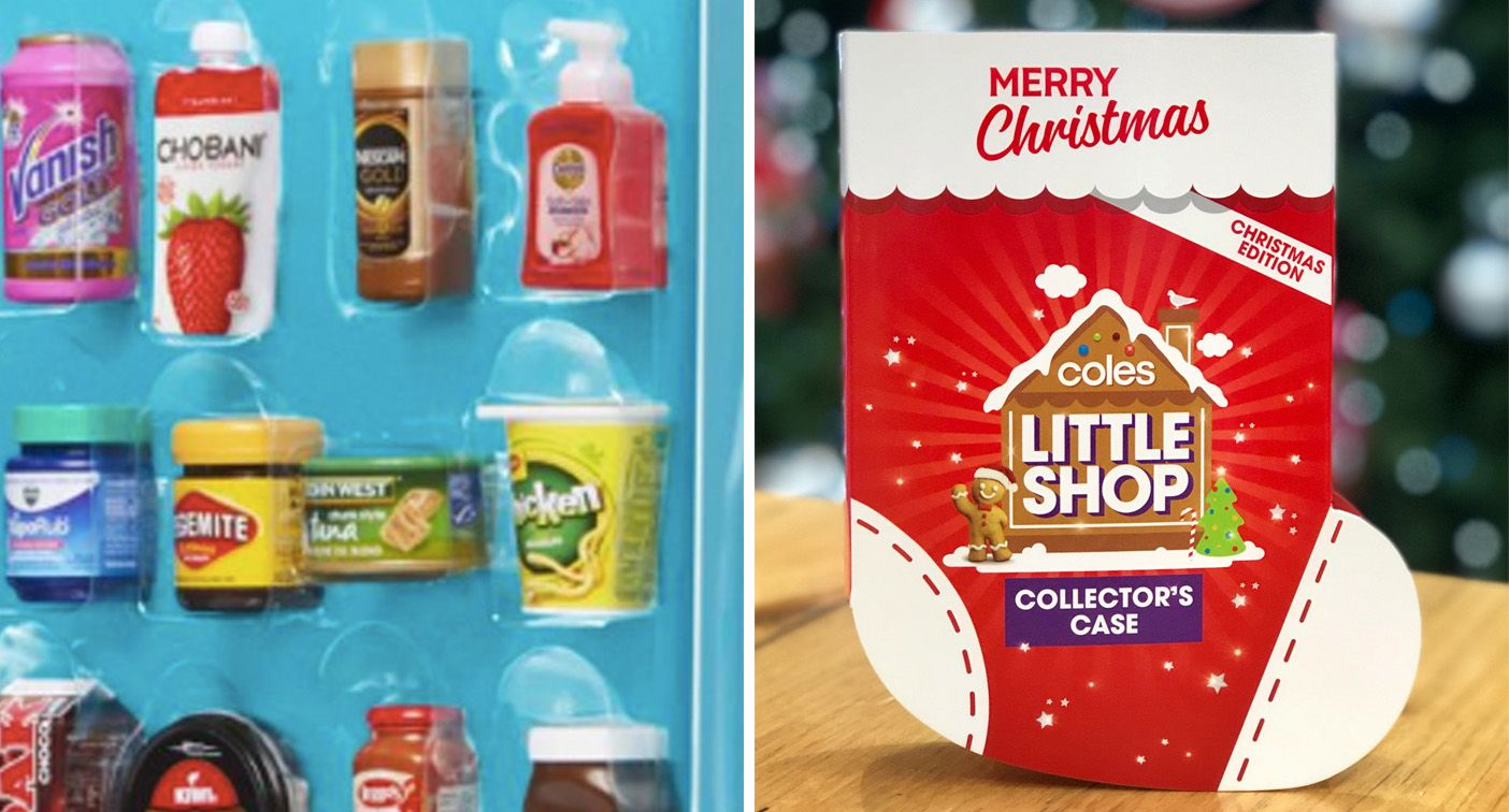 Coles Christmas-themed Little Shop collectables